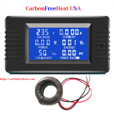 AC 220V 6 in1 Volt, Amp, Watt, Energy, Frequency, Electric Smart Kwh Meter